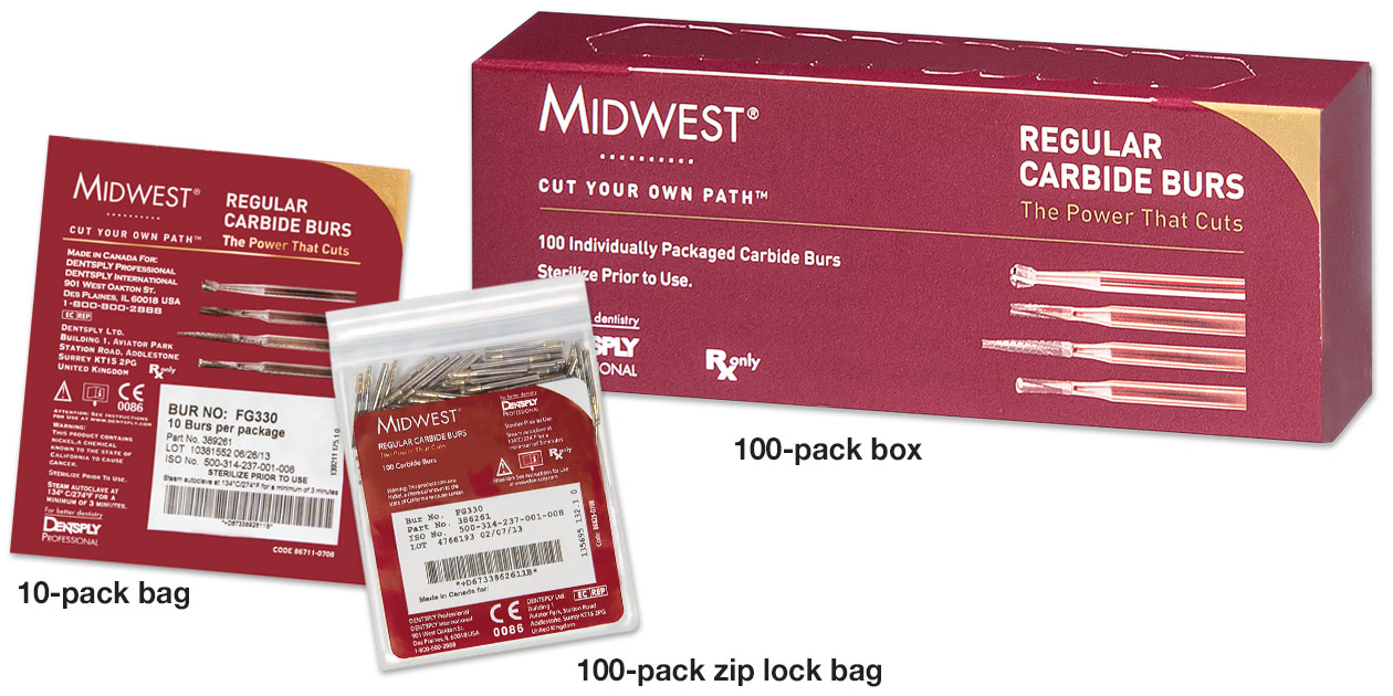Image for Midwest® carbide burs